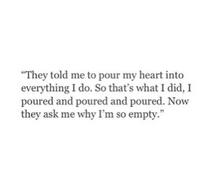quote, heart, and empty image