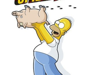 homer simpson, the simpsons, and spider pig image