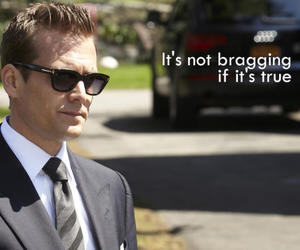 quote, suits, and words image