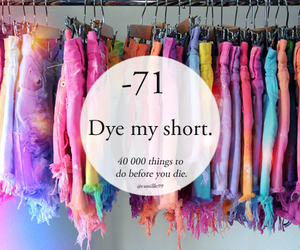 shorts, dye, and summer image