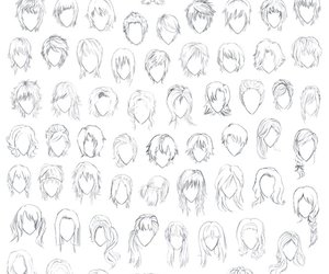 art, drawing, and hair styles image