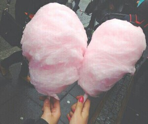 pink, food, and cotton candy image