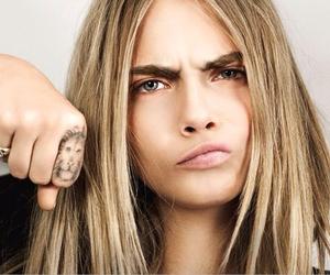 cara delevingne, tattoo, and model image