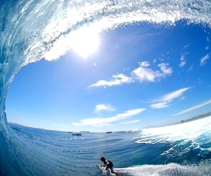 surf, waves, and blue image