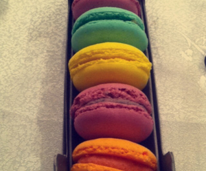 colorful, delicious, and macaron image