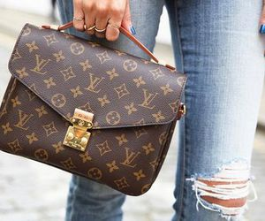 bag, Louis Vuitton, and jeans image