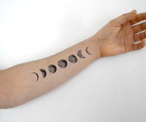 tattoo, ink, and moon image