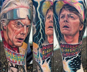 Back to the Future, ink, and tat image