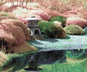 garden, japan, and japanese garden image