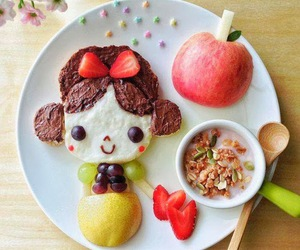 food, apple, and snow white image