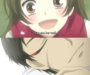 anime girl, sakura, and anime boy image