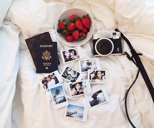 strawberry, camera, and photography image
