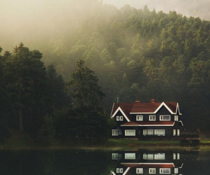 house, lake, and nature image