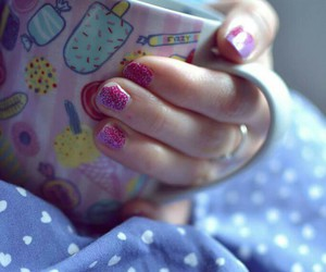 coffee, morning, and nails image