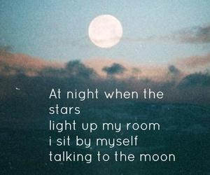 Lyrics, talking to the moon, and quote image