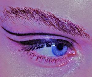 pink, eye, and grunge image