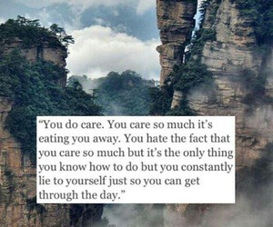 quote, care, and caring image