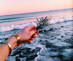 beach, hipster, and ocean image