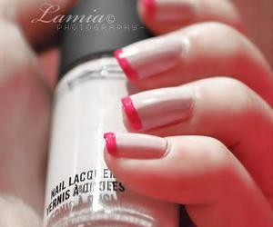 dark pink, mac, and manicure image