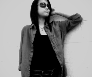 girl, sunglasses, and Modeling image