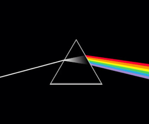 Pink Floyd, music, and rainbow image