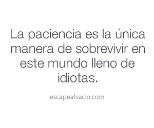 idiot and paciencia image