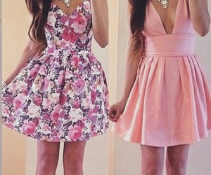 beautiful, pink, and dress image