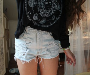 girl, shorts, and quality image
