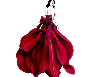 dress, art, and flowers image