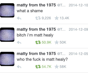 twitter, matty, and the 1975 image