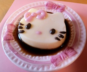 hello kitty, pink, and cake image