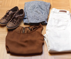 esprit, grey, and outfit image