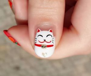 nails, cute, and cat image