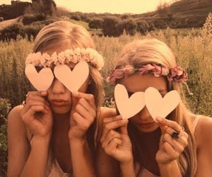 blonde, hearts, and pretty image
