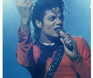 michael jackson and red image