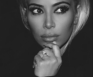 kim kardashian, blonde, and hair image