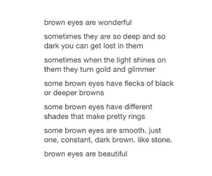 beautiful, brown eyes, and quotes image