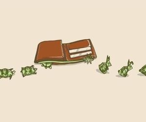 money, funny, and wallet image