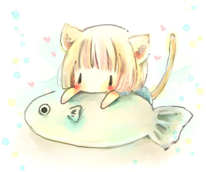 cute, anime, and fish image