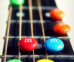 guitar, guitar hero, and m&m's image
