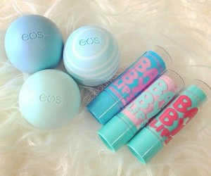 eos, baby lips, and blue image