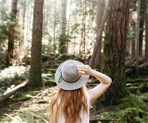 girl, nature, and hair image
