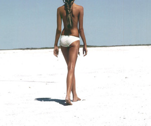 beach, hair, and tanned image