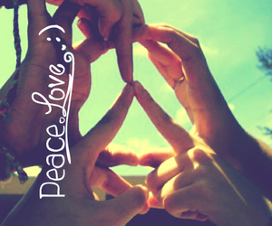 friendship, peace, and sign image
