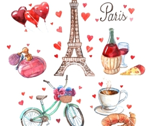 france, heart, and paris image