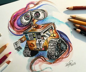 art, drawing, and wall-e image