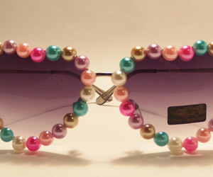 heart glasses, heart shaped sunglasses, and lolita image