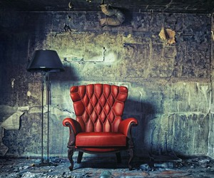 chair, red, and room image