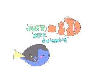 nemo, just keep swimming, and disney image