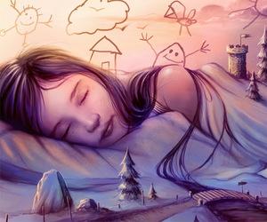 baby, dreamer, and sleep image
